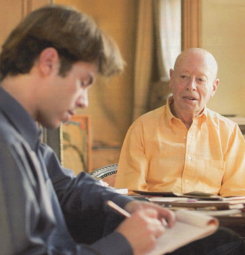 Sébastien Moreau avec son premier client en 2003